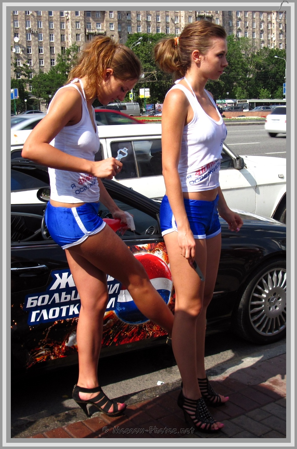 High Heels Pepsi Girls