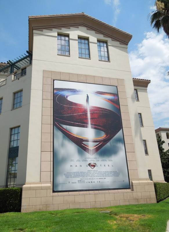 Man of Steel Superman logo billboard