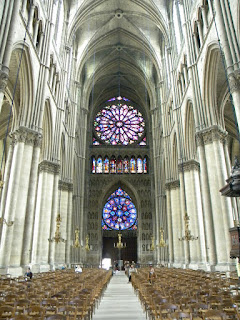 the gallery for chartres cathedral interior rose window