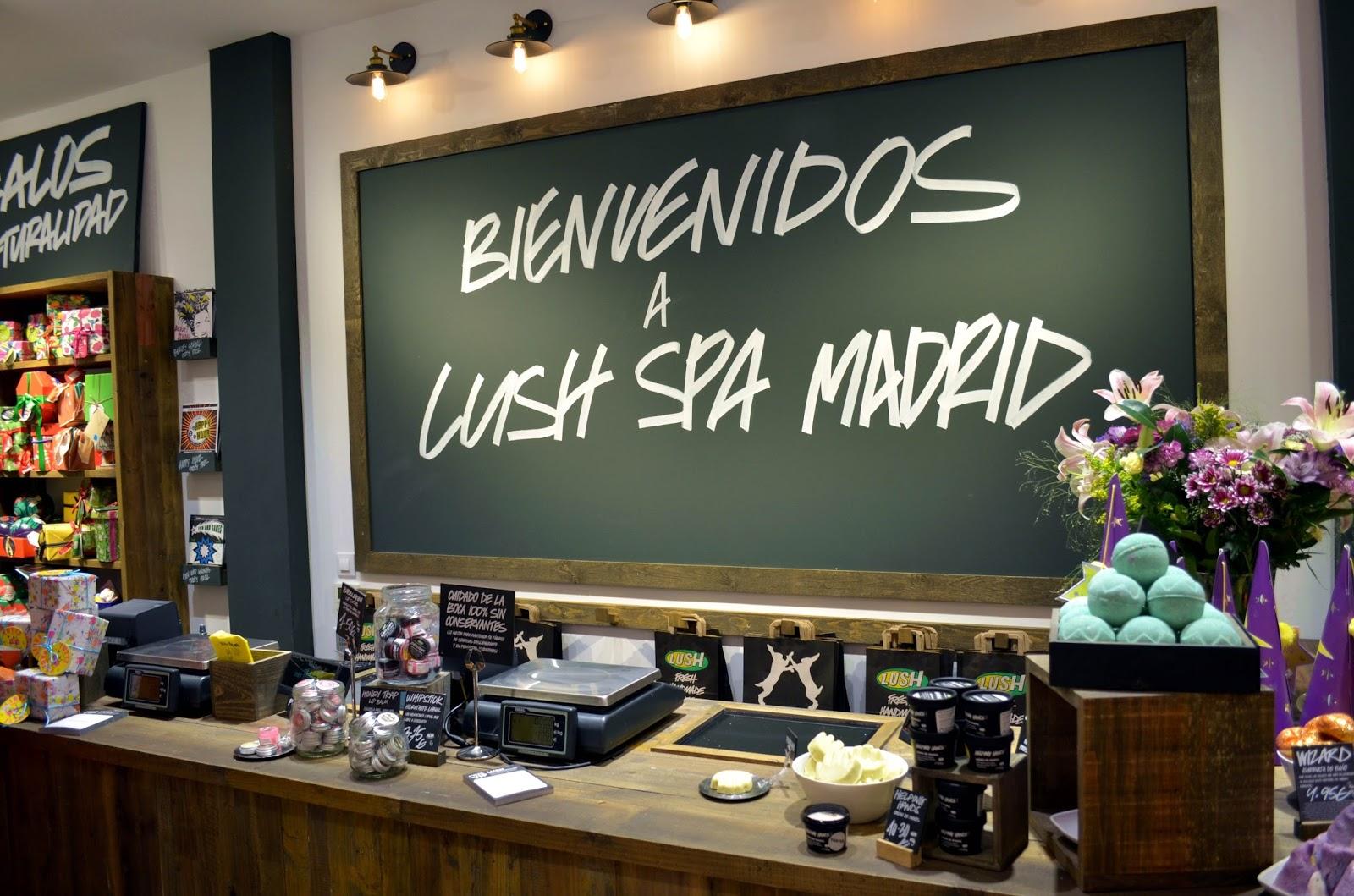 Lush SPA madrid tienda shop