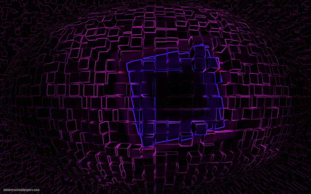 Black abstract wallpaper with pink blocks made of lines