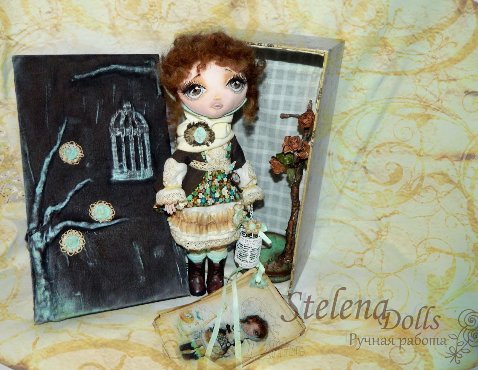 Упаковка  и паспорт для текстильной куклы Stelena Dolls