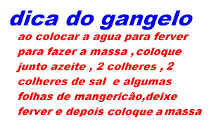 DICA DO GANGELO