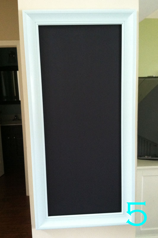 this is how i created my framed chalkboard wall