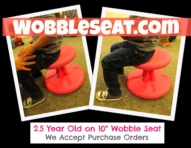 Wobble Seat: Active Seating Alternative.... great for developing core muscles