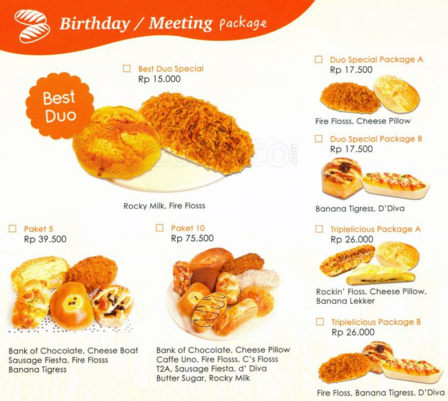 Harga Roti Dan Kue Di BreadTalk Saat Ini