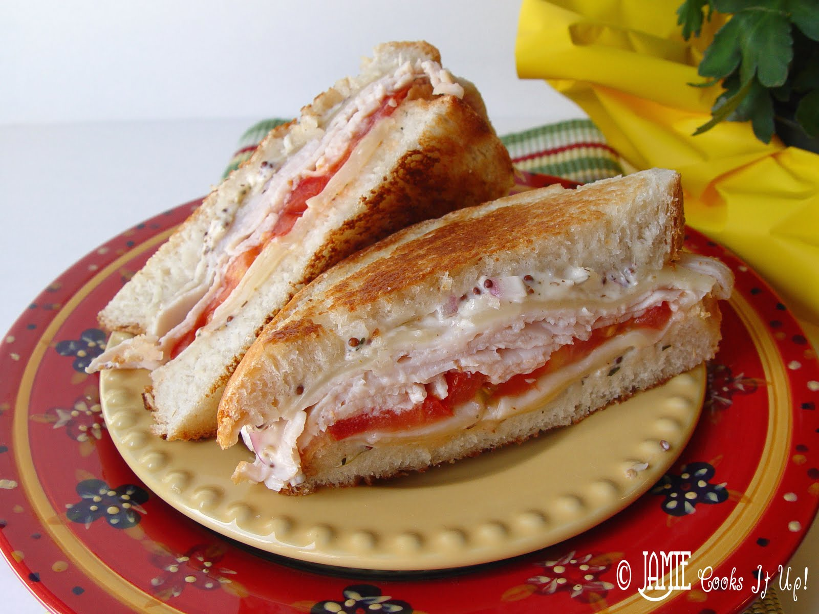 Turkey And Swiss With Grapes Sandwich Recipes — Dishmaps