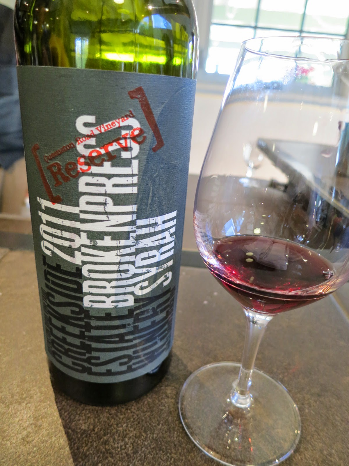 Wine Review of 2011 Creekside Broken Press Syrah from Queenston Road Vineyard, VQA St. David's Bench