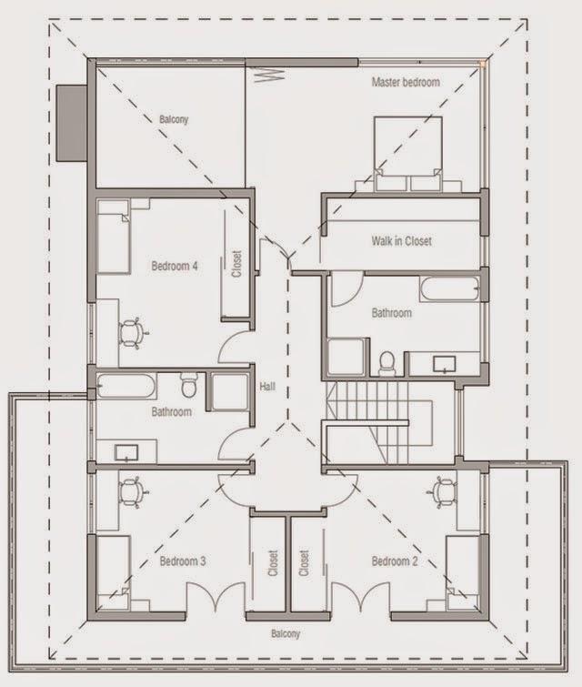 Planos de casa de 4 dormitorios planos de casas gratis y for Casas modernas de una planta y tres dormitorios