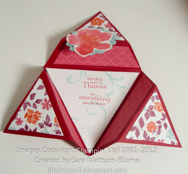 Lily 39 s ink pad star fold card with tutorial for How to make folded christmas cards