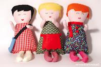 muñecas de tela cosidas a mano para regalar