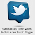 Now i will learn you How to Automatically Tweet When Publish a new Post in Blogger