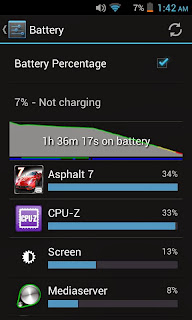 Cherry Mobile Sonic 2.0 Battery Stats - Game