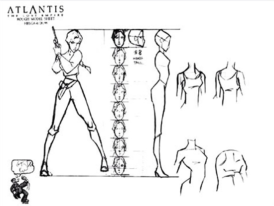 Disney Atlantis Character Design : Living lines library atlantis the lost empire