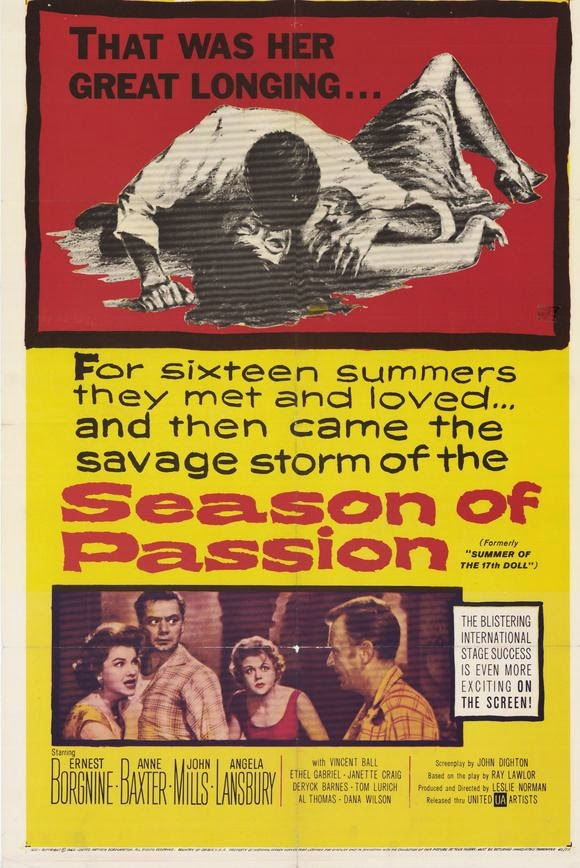 Summer of the Seventeenth Doll (1959) Angela Lansbury, Ernest Borgnine RARE