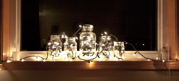 mason jar decor - Mason Jar Christmas Lights