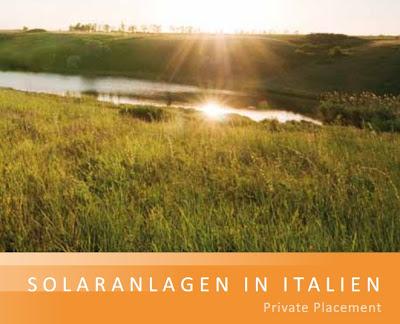Solar Photovoltaik Memorandum Italien R1 Private Placement