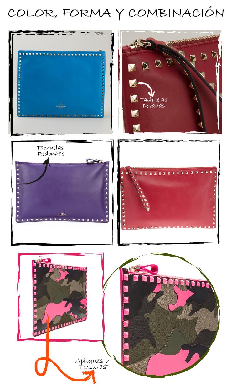 inspiración diy bolso de mano VALENTINO colores formas combinaciones texturas