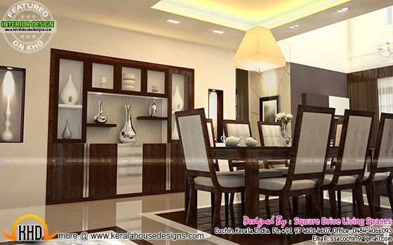 Interior designs of master bedroom living kitchen and for Simple dining hall design