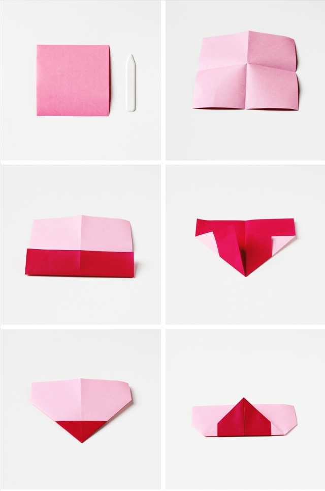 valentine's day origami hearts - three ways. | gathering beauty, Ideas