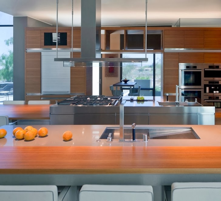 Kitchen furniture in Multimillion modern dream home in Las Vegas