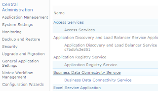 Business data connectivity service