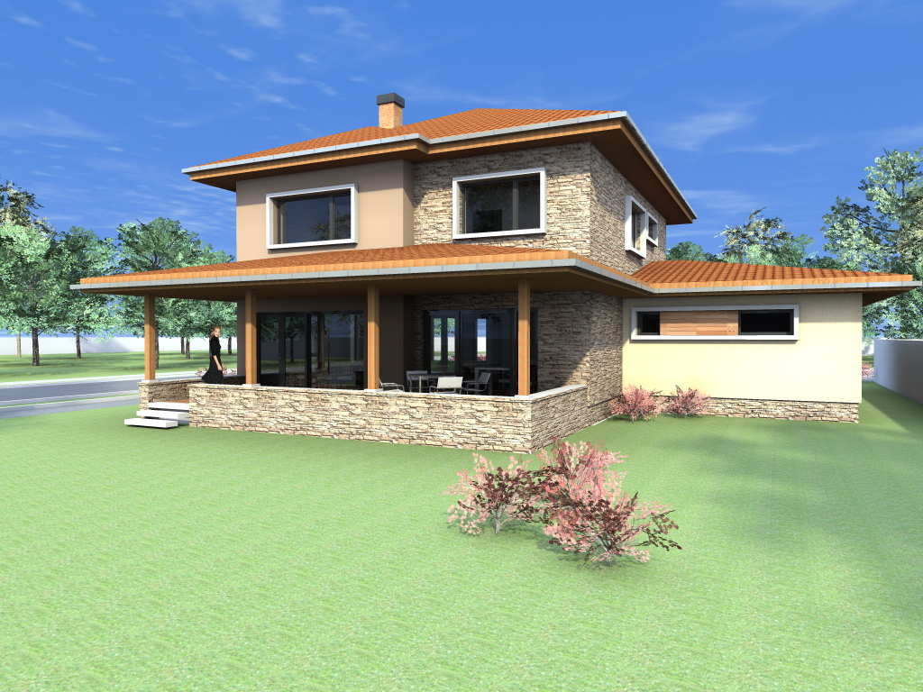 Arhiconstruct proiecte case cu garaj si etaj casa c26 for Proiecte case cu mansarda 2017