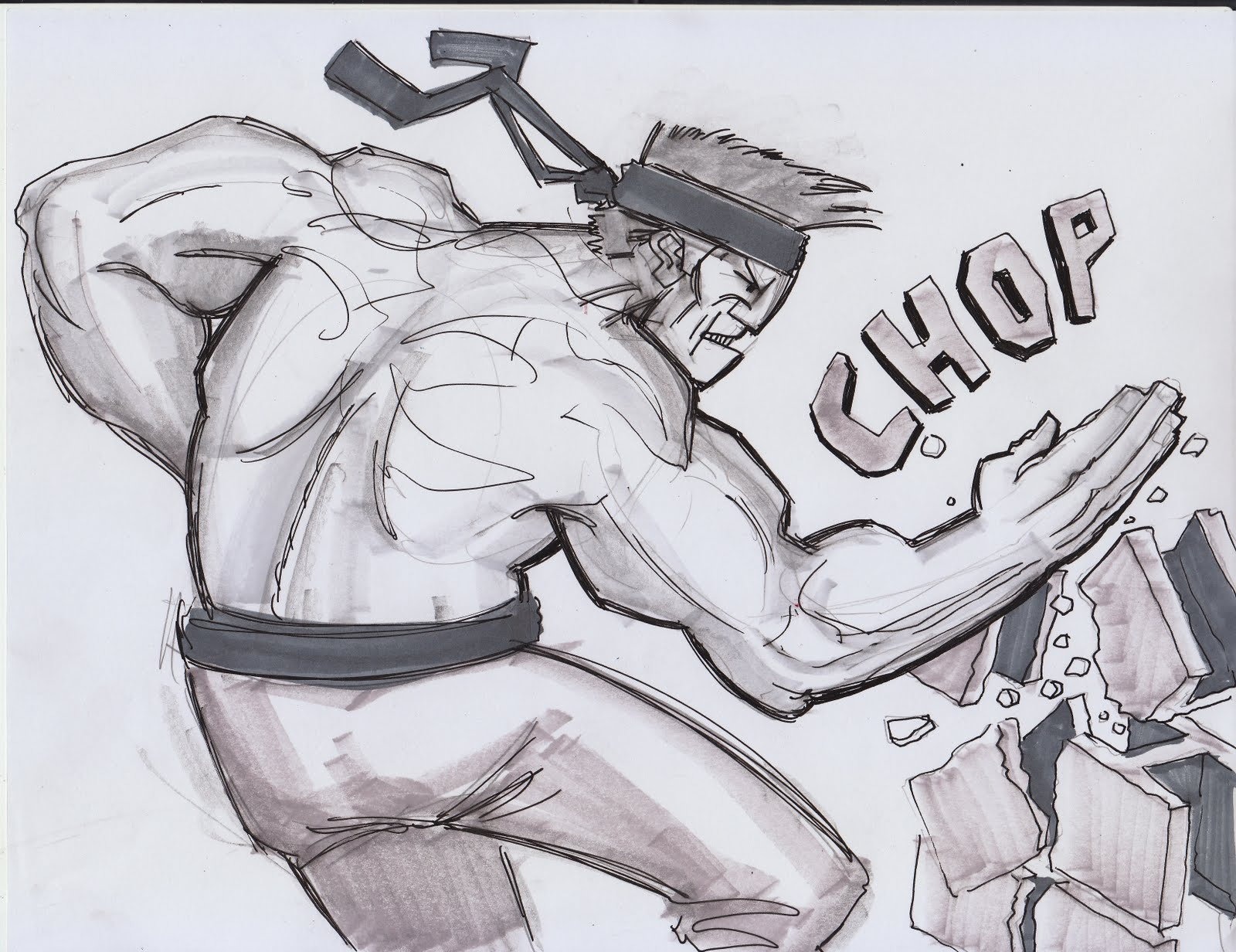 Wilsonic Illustration: Karate Chop