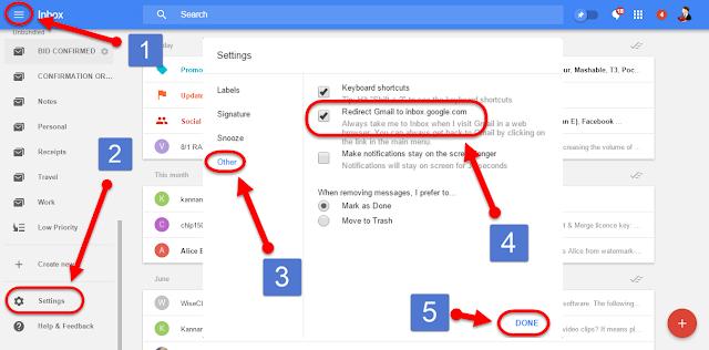 Redirect Gmail to inbox.google.com மின்னஞ்சல்
