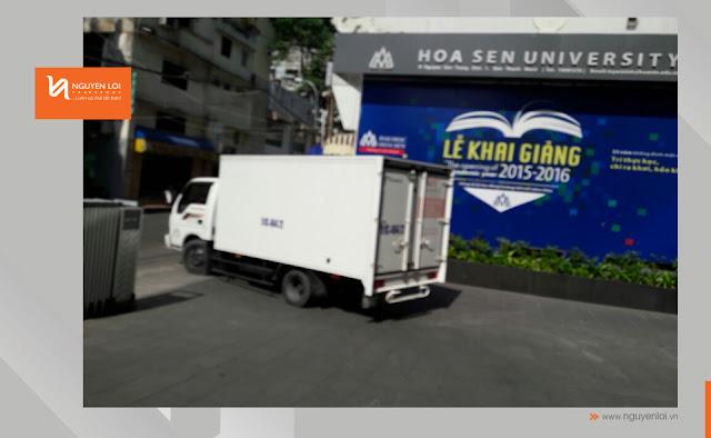 thuê xe tải chở hàng ĐH Hoa Sen
