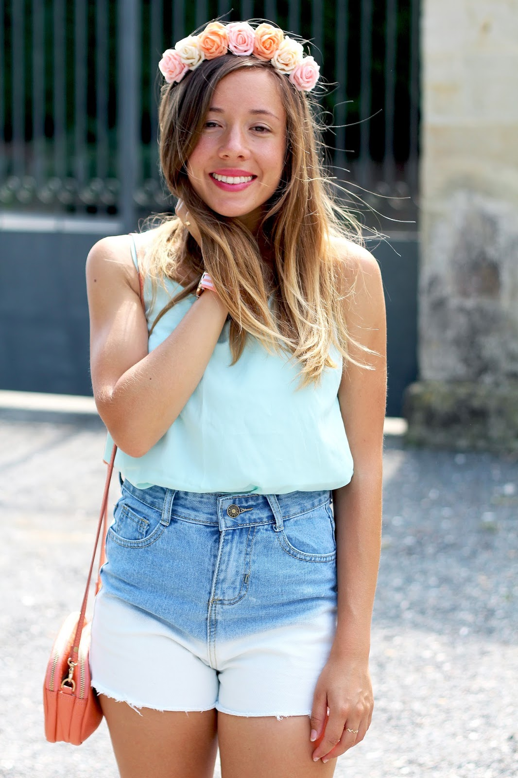 Short en jean tie and dye