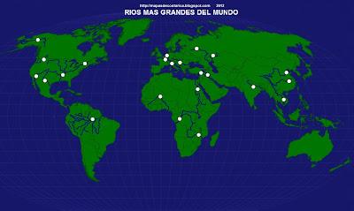 Mapamundi, seterra, rios del mundo