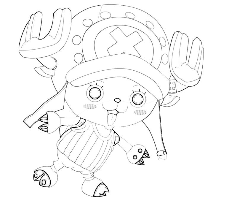 printable-one-piece-tony-tony-chopper-funny-coloring-pages