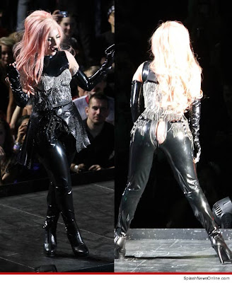 Lady Gaga's pants tear