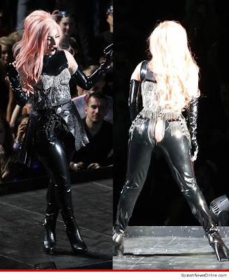 Lady Gaga's pants tear