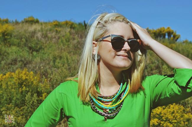 Akron Ohio fashion - bright statement necklace