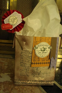 From My Heart and World Map bag by Ida Chan Stampin' Up! Vancouver