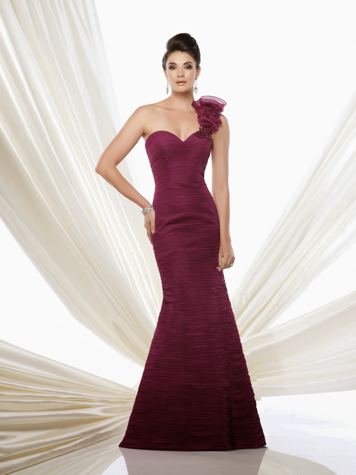 Mother of the Bride Dresses by Mon Cheri purple