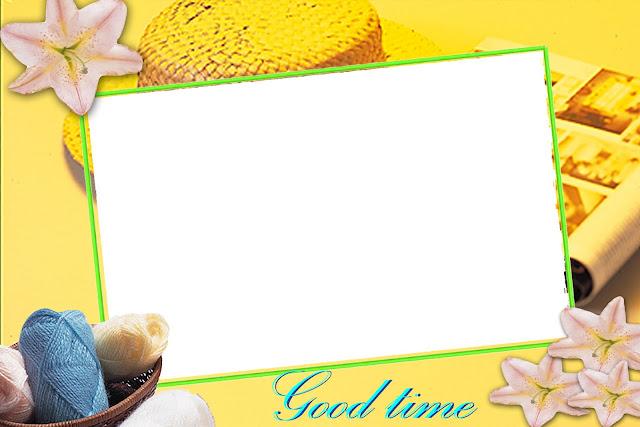Bingkai foto warna kuning