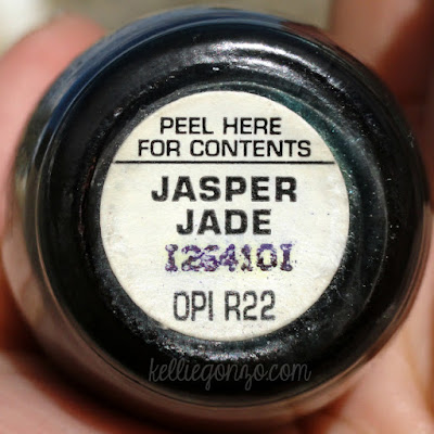 OPI Jasper Jade label