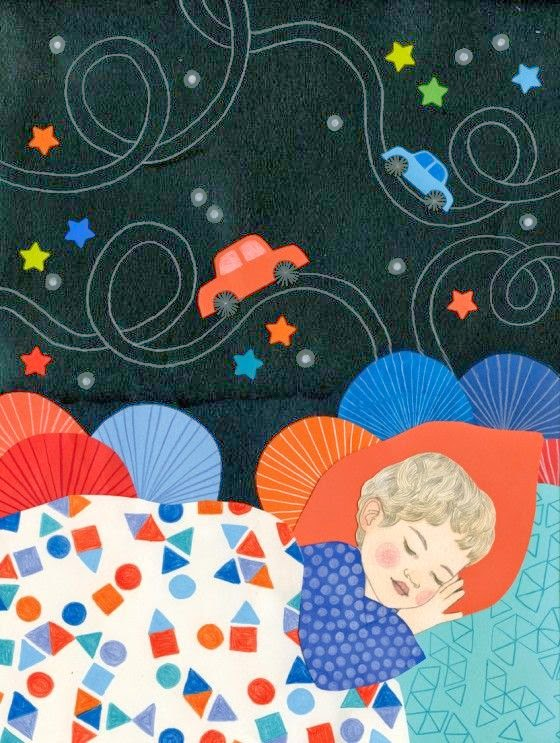 illustration by Ilya Green of a boy dreaming