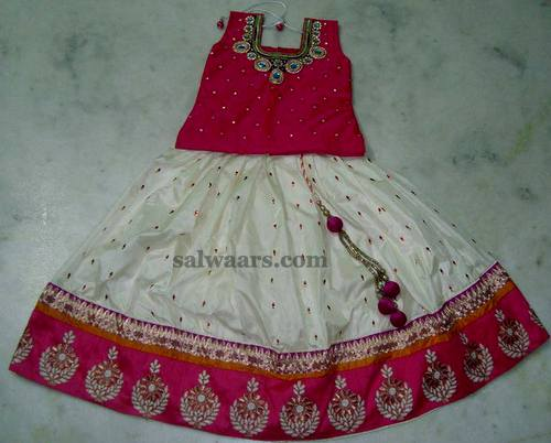 Embroidered Mirrors Lehenga for Kids