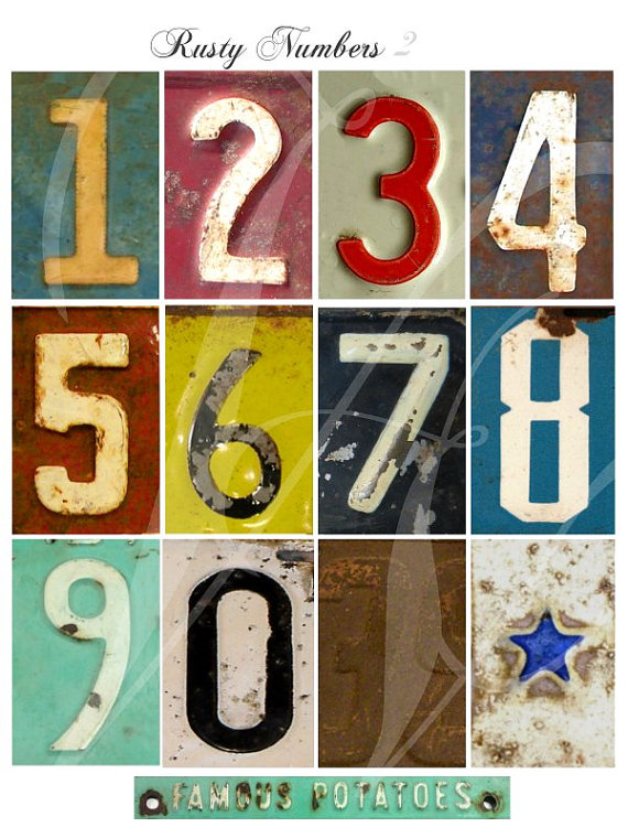 the adventures of bluegirlxo: vintage numbers to label ...