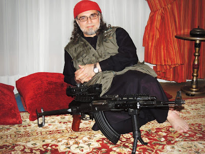 Zaid Hamid with Rifle