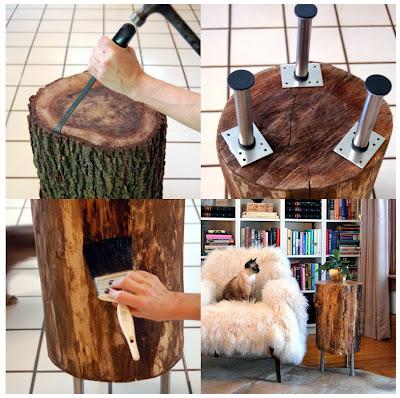 Reciclando um tronco de árvore