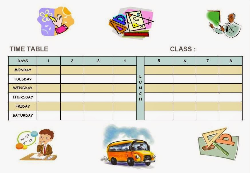 January thirty first school time table