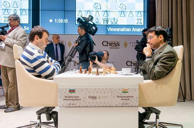 Shamkir Chess 2015. Anand - Mamedyarov
