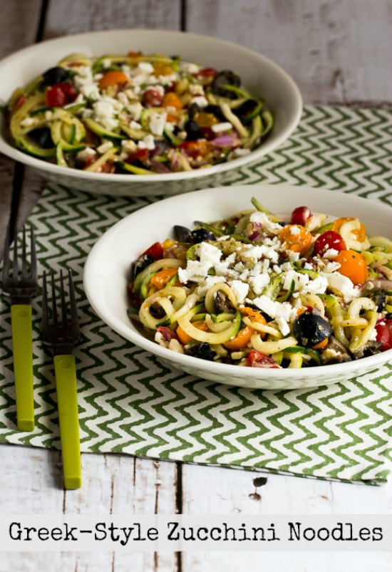 Greek-Style Zucchini Noodles with Tomatoes, Olives, and Feta found on ...