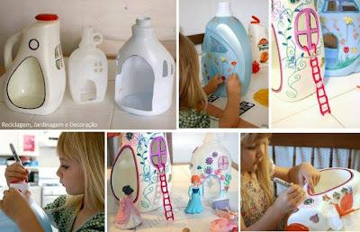 Casa para las muñecas reciclada