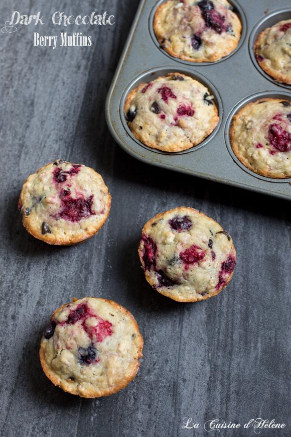 Dark Chocolate Berry Muffins